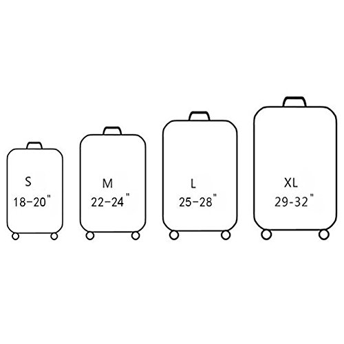 Meijunter Koffer Schutz Abdeckung Drucken Elastisch Verdicken Anti-Kratzer Gepäck Skin Tasche T16038