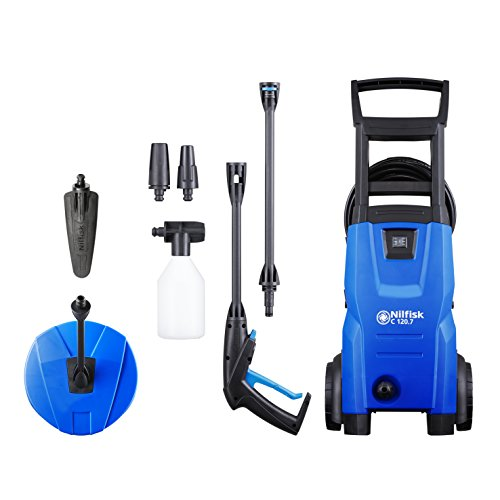 Nilfisk 128471011 C 120.7-6 PCA Hidrolimpiadora de Agua a Presión, 1400 W, 230 V, Azul