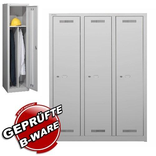 Garderobenschrank • Umkleidespind • Metallspind • Spind • Bisley • B-Ware