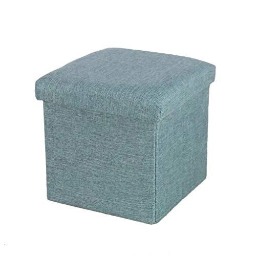 Yuliang agl-ottomane e poggiapiedi sgabello divano multiuso stoffa piegare traspirante portatile conservazione creativo soggiorno cambia scarpe scatola di immagazzinaggio pasto, più colori