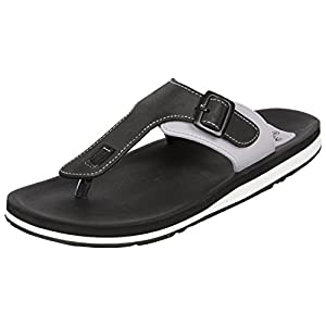 Adda Men's Omega 1 Black & White Flip Flops