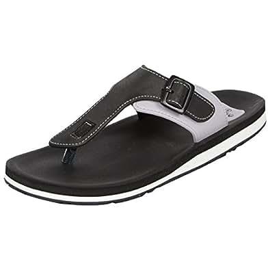 Adda Men's Omega 1 Black &amp; White Flip Flops <span at amazon