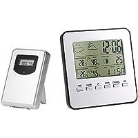 Anself - Estación meteorológica inalámbrica multifunción digital, termómetro higrómetro calendario ...
