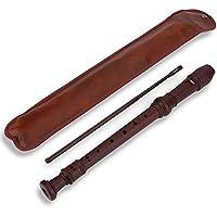 Alomejor Flauta de 8 Orificios para grabadora de Soprano de Alto Paso con Tubo de Varilla de plástico