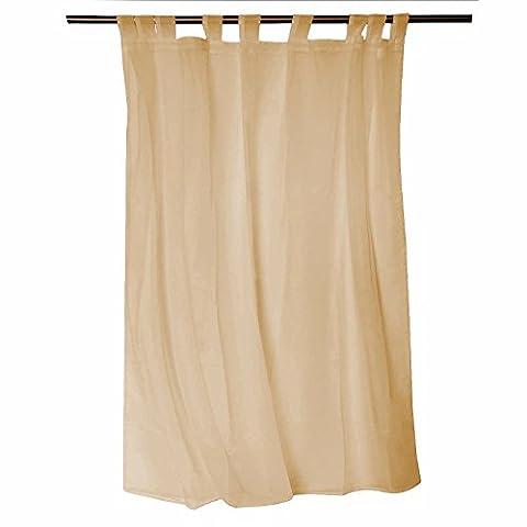 Uni Tab Top Voile Panel–Net Voile Netz Vorhang Mit Raffhalter–149,9cm