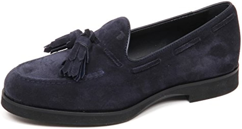 E4206 Mocassino Donna BLU Tod's Scarpe nappine Suede Shoe Loafer Woman