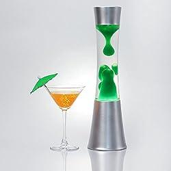 """Elegante lámpara """"Sandro"""" con verde Lava Magma para un atmósfera conviviale luz 39cm Élevé, lámpara de lava fürs salón o diseño de dormitorio"""