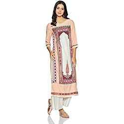 W for Woman Straight Kurta (17FE16685-59190_10_PEACH)