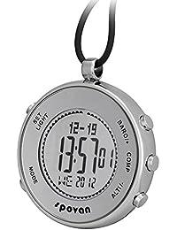 Spovan Reloj De Bolsillo Hombre Mujer Deportivos Barómetro Altímetro Termómetro Digital