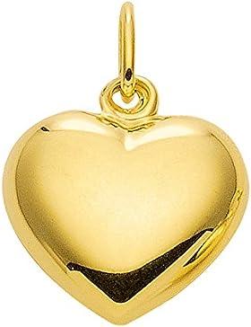 Gold 14 k ( 585 ) Motiv - Anhänger - Herz - B. 10,7 mm - H. 8,5 mm