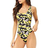 B-commerce Frauen Badeanzug Athletic Sports Racing Training Bademode Camouflage Gedruckt Bikini Beach Monokini Badeanzug