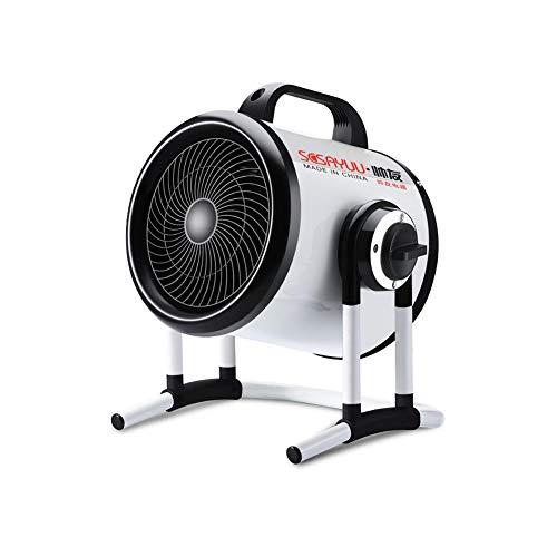 XUERUI Eléctrico Calentadores Ventilador Inclinación Redondo Inoxidable Acero Sobrecalentar Proteccion Ajustable Industrial...