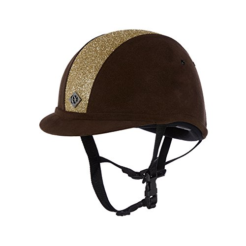 Charles Owen Sparkly YR8 Riding Hat 58cm Brown and Gold (Charles Owen Hat)