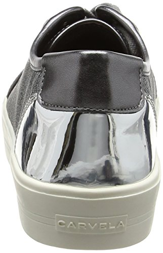 Carvela Lorna NP, Sneaker Basse Donna Grey (Gunmetal)