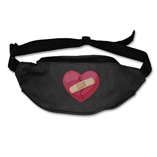 Unisex Pockets Psychic Trauma Fanny Pack Waist/Bum Bag Adjustable Belt Bags Running Cycling Fishing Sport Waist Bags Black -