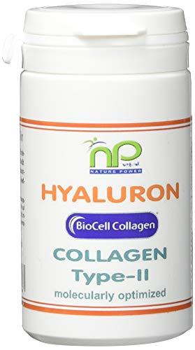 Biocell Collagen® oder Collagen Express Kapseln (mit Collagen-II, Hyaluronsäure, Vitamin-C und Mangan) 1000mg Collagen/Tag für Haut, Haare, Gelenke von NP-Vital (120 Biocell Collagen® Kapseln)