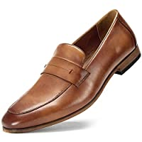 Cestfini Mens Slip On Dress Penny Loafers - Business Casual Dress Shoes for 8 Brown