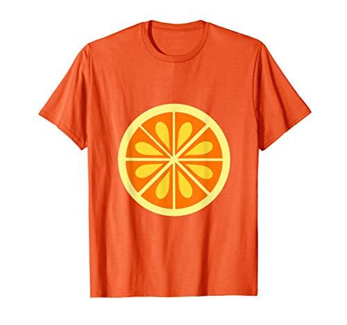 Frucht Orange Kostüm - Orange Kostüm Shirt Frucht Orange Karneval Last Minute  T-Shirt