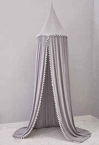 UR MAX BEAUTY Kinder Chiffon Lace Mosquito Dome Bettdecke Schlafzimmer Spielzimmer Book House,Gray Max-dome