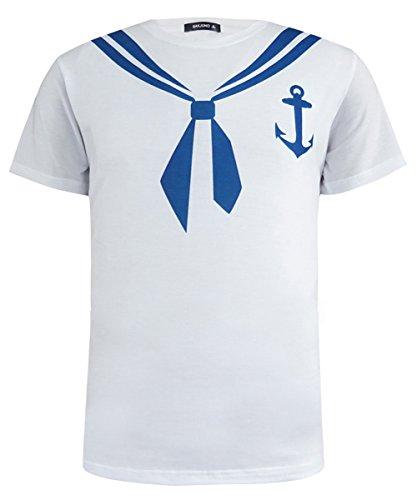 Mann Halloween Kostüm Seemann (Funny World Herren Seemann Kostüm T-Shirts (XL,)