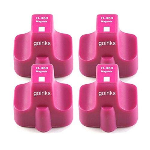 4 Go Inks Magenta Tintenpatronen ersetzen HP 363M (XL Kapazit�t) Kompatibel / Nicht-OEM zur verwendung mit HP Photosmart Drucker