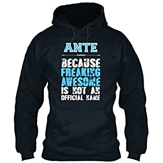 teespring ANTE is Awesome T-Shirt Sweatshirt - L - French Navy - Standard College Hoodie