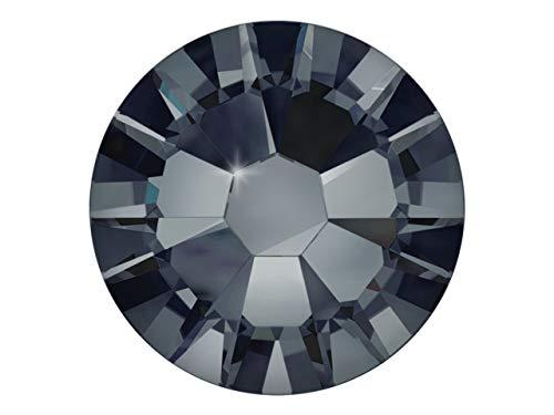 100 Nail Art Kristalle - SWAROVSKI® Crystal - XILION Rose - Flat Back No Hotfix - Nagel-Design Strass Steine zum Aufkleben - graphite 1.75mm -