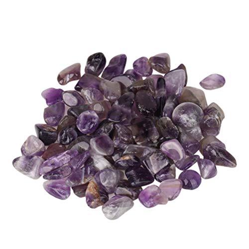 POPETPOP Natürliche Amethyst Stein Aquarium Lila Felsen Vase Kristall Kies Rock Dekoration 4 stücke