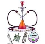 Aladin Origins Shisha Numea, 2-Schlauch-Wasserpfeife im Bundle mit...