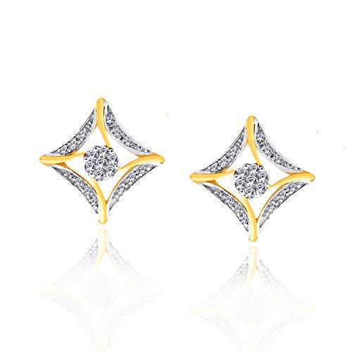 Giantti 14carats Diamant pour femme Boucles d'oreille à tige (0.436CT, VS/Si-clarity, Gh-colour)