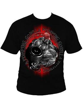 SR162 argento alungate Gorilla iony 3 T-shirt da uomo