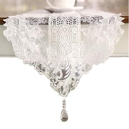 AMY-ZW White Lace Wedding Tischläufer Restaurant Runner Tischdecke Tischfahne Hotel Tischset Weihnachtstischdecke Konferenztischdecke (Size : 30X150cm)