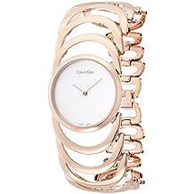 Calvin Klein–Reloj de pulsera analógico para mujer cuarzo acero inoxidable k4g23626