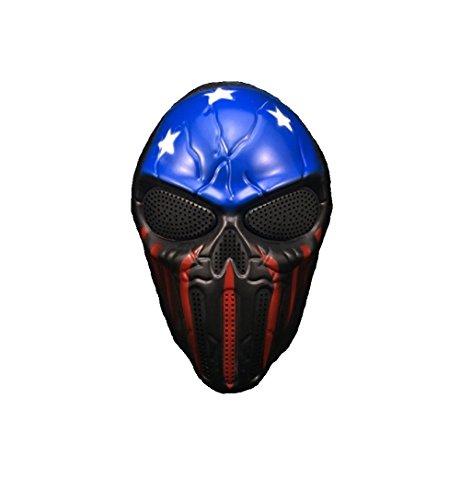g der 13. Masken Halloween Fasching Masken (Captain Skull) (Captain Halloween)