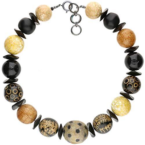 langani Halskette Haraube Damen-Kette mit den schwarzen Perle Handmade Since 1952