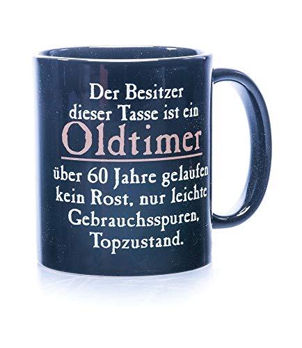 Rahmenlos 914742 Funtasse Fun Spaßtasse mit Aufdruck - Oldtimer 60