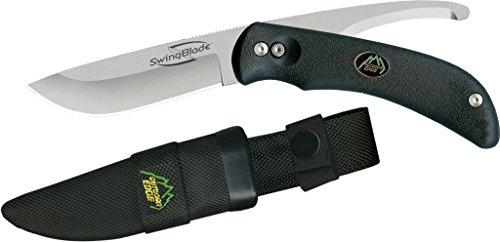 Outdoor Edge Swing Couteau à Lame Fixe Mixte Adulte, Noir/Gris, 90 mm