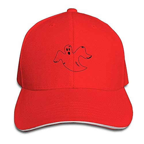 Halloween Flying Ghost Vintage Snapback Peaked Sandwich Baseball Caps Unisex