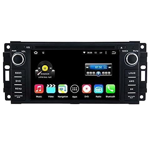 Top Navi 15,7cm 800x 480Android 5.1.1Auto Navigation GPS pour Jeep Chrysler/Sebring/Aspen/TM Cirrus ¡. ¡§ 2007–2010¡.? Jeep Commander ¡. ¡§ 2008–2010¡.? Jeep Compass ¡. ¡§ 2009–2011¡.? Jeep Grand Cherokee ¡. ¡§ 2008–2011¡.? Jeep Wrangler/Unlimited ¡. ¡§ ¡.? 2007–2013Dodge Ram Pickup Trucks Avenger, Caliber, Challenger, Dakota, Dura (2009–2011) lecteur DVD de voiture Wifi Bluetooth radio 1,6Go CPU Rockchip RK3188Cortex A9DDR33G à écran tactile capacitif de voiture Audio Stéréo Google Play Carplay 16g Quad Core