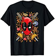Marvel Deadpool Snacks and Bullets T-Shirt