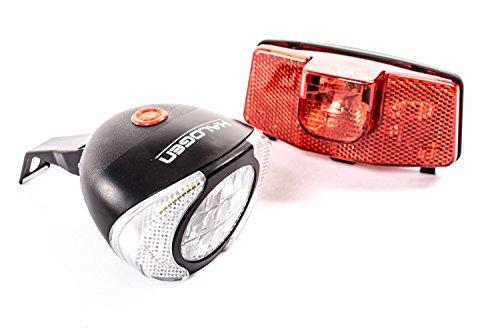 Fahrrad Beleuchtung Lampen Set Halogen Dynamo Vorderlicht Rücklicht