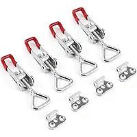 TANCUDER 4 unidades de cierre de caja de metal, cierre de palanca multifuncional, pequeño ajustable para armarios, puertas, cajas, maletín