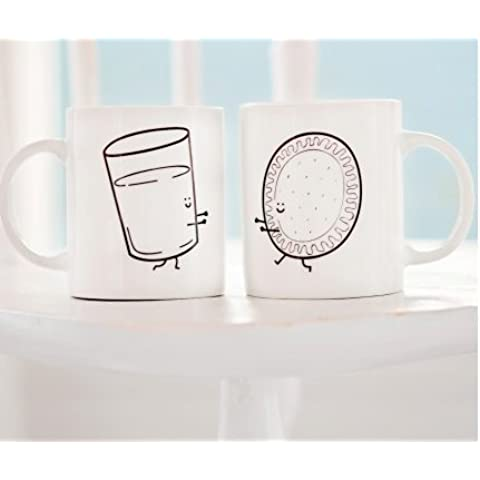 Mr. Wonderful - Lote de 2 tazas con diseño How do you like your coffee? With you