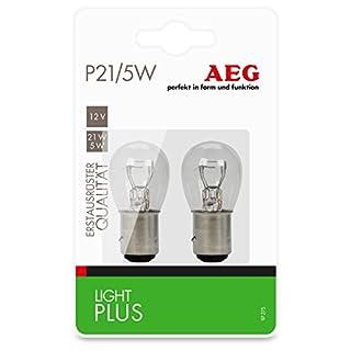 AEG Automotive 97275 Glühlampe Light Plus P21/5W, 2er Set