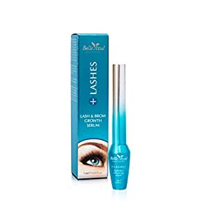 Belle Azul +Lashes - Siero intensificatore crescita ciglia e sopracciglia, 7 ml