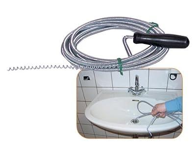 Rohrreinigungswelle Abfluss-Spirale 5 mm Durchmesser, 3 m lang