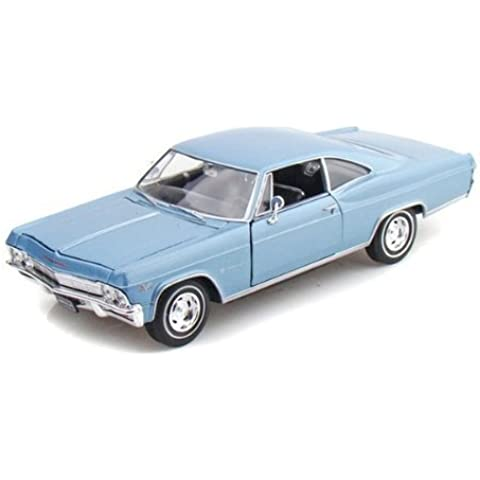 1965 Chevy Impala SS 396 1/24 - Baby Blue by Welly