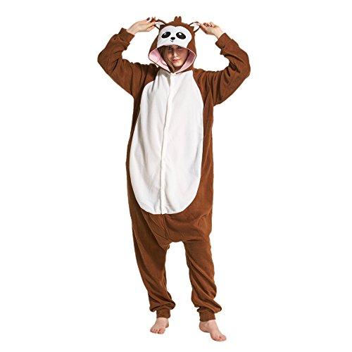 Hstyle Erwachsenen-Kostüm Unisex Kigurumi Onesies Pyjamas Bequemen Loungewear Sleepsuits Affe (Sleepsuit Homewear Cosplay Wear Lounge Pyjamas Kostüm)