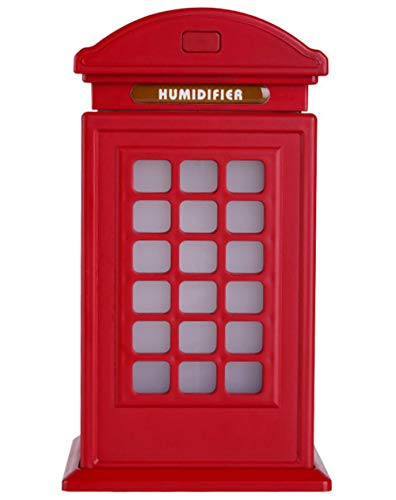 Shenhai Humidificador de Cabina telefónica Humidificador de Gran Capacidad Decoración de Arte Mini humidificador Humidificador de Coche Código Rojo_