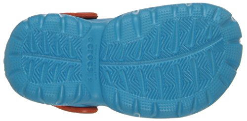 Crocs Swiftwater Clog, Sabots - Mixte enfant Bleu (Electric Blue/Tangerine)